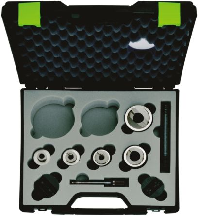 Greenlee 16.2 mm, 20.4 mm, 25.4 mm, 32.5 mm, 40.5 mm, 50.8 mm, 64 mm , 7 Piece Punch and Die Set With Punch & Die ISO