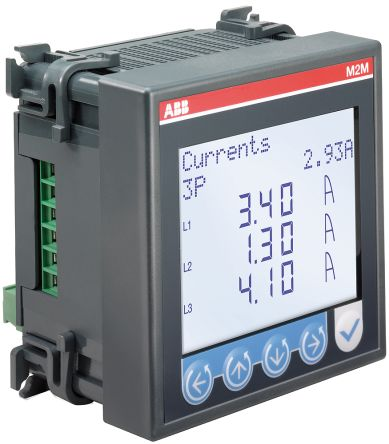 ABB M2M LCD Digital Power Meter, 4-Digits, 1, 3 Phase , ±0.5 % Accuracy
