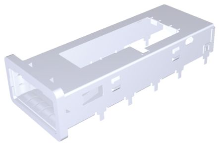 1888781 Series Single Port Right Angle QSFP+ Cage, Press-Fit Termination product photo