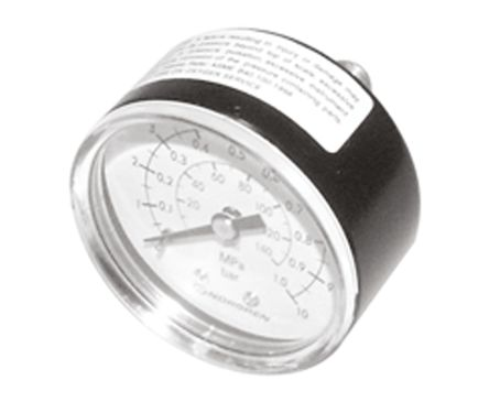 18-013-012 Analogue Positive Pressure Gauge Back Entry 6bar, Connection Size R 1/8 product photo