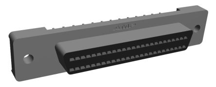 Amplimite .050 III Series, Female 50 Pin Straight PCB Mount SCSI Connector 1.27mm Pitch, Solder product photo