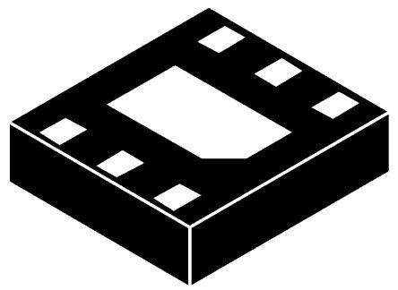 DMG5802LFX-7 Dual N-Channel MOSFET, 6.5 A, 24 V, 6-Pin DFN Diodes Inc product photo