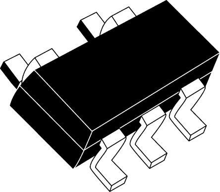 DiodesZetex 74AHC1G125W5-7 Non-Inverting Schmitt Trigger 3-State Buffer, 5-Pin SOT-25