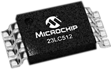 Microchip SRAM Memory, 23LC512-I/ST- 512kbit