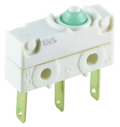 SPDT Button Microswitch, 1 A @ 250 V ac product photo