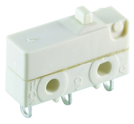 SPDT Button Microswitch, 6 A @ 250 V ac product photo