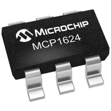 Microchip MCP1624T-I/CHY, Boost Regulator 50mA Adjustable, 630 kHz 6-Pin, SOT-23