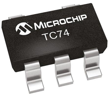 Microchip TC74A5-3.3VCTTR, Temperature Sensor -40 → +125 °C ±3°C Serial-I2C, SMBus, 5-Pin SOT-23