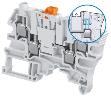 Entrelec, SNK Series , 500 V ac Standard Din Rail Terminal, Screw Termination