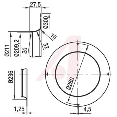 Fan Inlet Ring for use with Backward Curved Centrifugal Fan