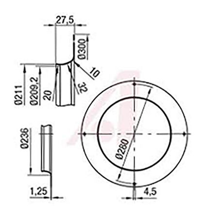 Fan Inlet Ring for use with ebm-papst Motorized Impeller 310