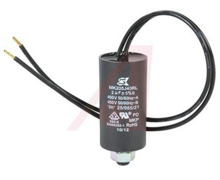 ebm-papst 2μF Polypropylene Capacitor PP Through Hole 9928 Series