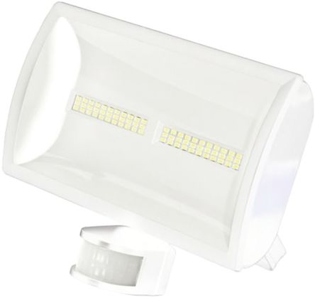 LED Floodlight 30W c/w PIR White