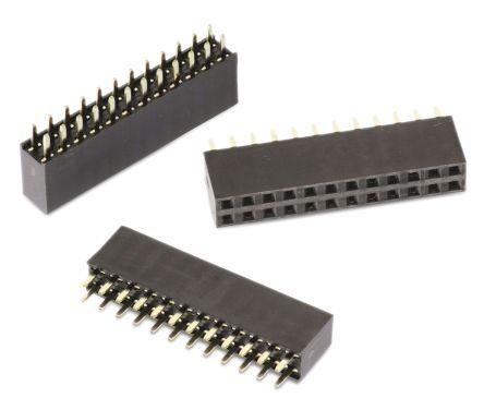Wurth Elektronik WR-PHD 613064, 2 54mm Pitch, 64 Way, 2 Row, Straight PCB  Socket, Through Hole