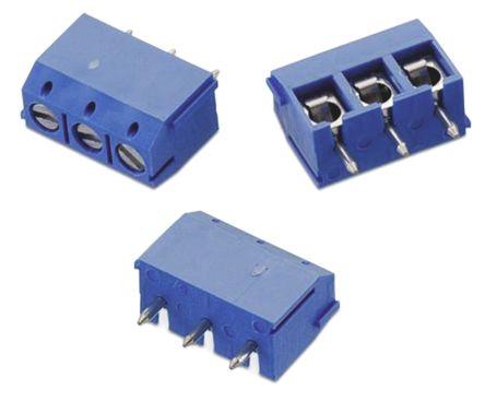 Wurth Elektronik 102, 3 Way 5mm Pitch PCB Terminal Strip