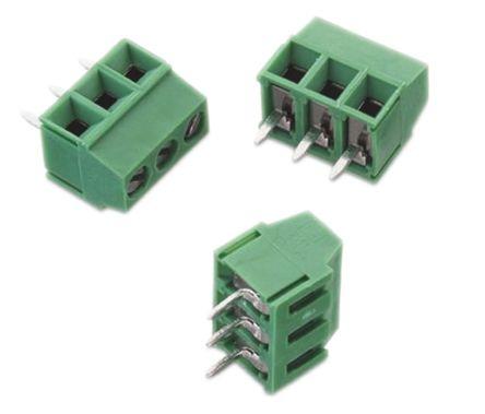 Wurth Elektronik 2141 Series 3.5mm Pitch Straight, PCB Terminal Block, Through Hole, 3 Way