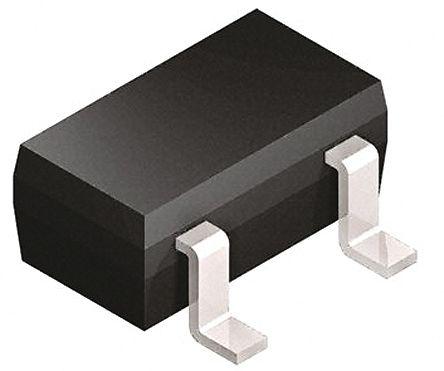 Infineon BB814E6327GR1HTSA1 Dual Common Cathode Varactor Diode, 43pF min, 2.05:1 Tuning Ratio, 18V, 3-Pin SOT-23