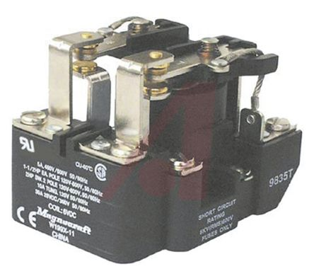 Schneider Electric DPDT Non-Latching Relay Panel Mount, 12V dc Coil, 40 A