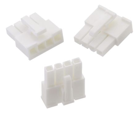 649004013322 - Female Connector Housing - WR-MPC4, 4.2mm Pitch, 4 Way, 1 Row product photo