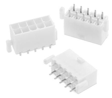 Wurth Elektronik WR-MPC4, 4 2mm Pitch, 2 Way, 2 Row, Straight PCB Header,  Through Hole