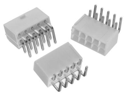 Wurth Elektronik WR-MPC4, 4 2mm Pitch, 2 Way, 2 Row, Right Angle PCB  Header, Through Hole