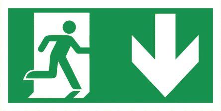 emergi lite emergency exit sign down arrow graphic zrs rsen2pl rh ie rs online com