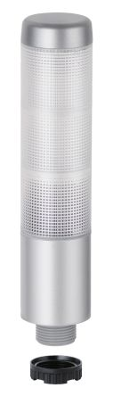 Werma Kompakt 37 LED Beacon Tower With Buzzer, 3 Light Elements, Clear, Green/Yellow/Red (LED Colour), 24 V ac/dc