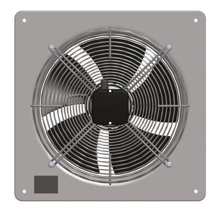 AC plate axial fan, HyBlade, 315mm 230V