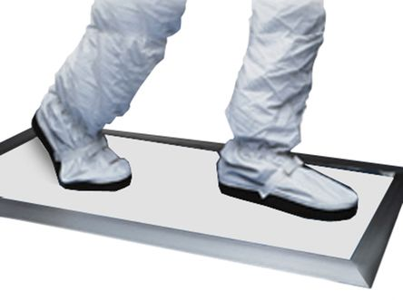 White Cleanroom Tacky Mat, 910mm x 910mm x 1.65mm