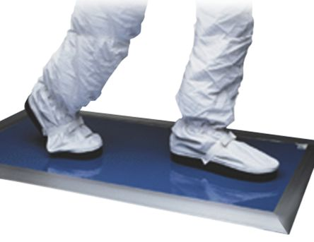 Blue Cleanroom Tacky Mat, 910mm x 910mm x 1.65mm