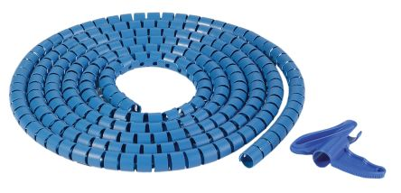 HellermannTyton Metal Detectable Polypropylene Blue Cable Sleeve, 25m Length, Helawrap HWPPMC Series
