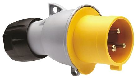 IP44 3P+E  Straight plug 16A 4H YELLOW