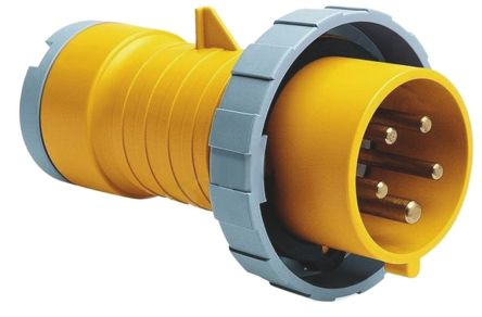 ABB CMA Series, IP67 Yellow Cable Mount 2P+E Industrial Power Plug, Rated At 32A, 100 → 130 V