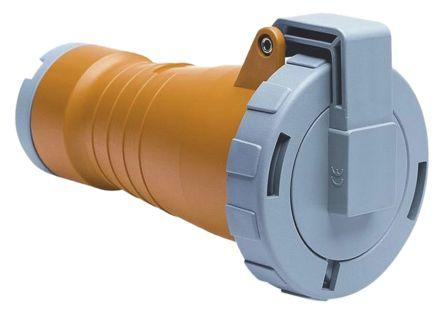 ABB CMA Series, IP67 Yellow Cable Mount 2P+E Industrial Power Socket, Rated At 32A, 100 → 130 V