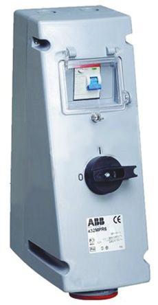 Vertical Switchable IP44 Interlocked Socket 3PN+E, 16A, 346 -> 415 V product photo