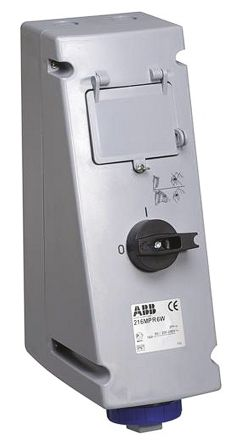 ABB Vertical Switchable IP67 Interlocked Socket 2P+E, 32A, 100 → 130 V