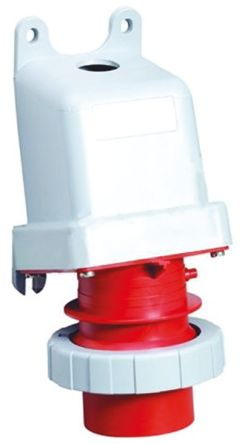 ABB CMA Series, IP67 Red Panel Mount 3P+E Industrial Power Plug, Rated At 32A, 380 → 415 V