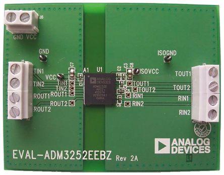 Analog Devices RS232 Transceiver (Dual) Evaluation Board for ADM3252E, EVAL-ADM3252EEBZ