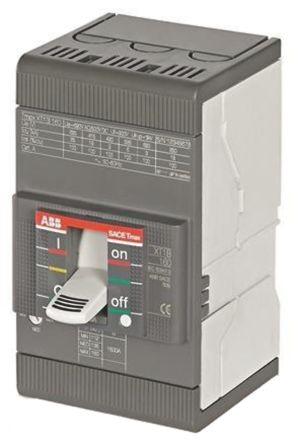 3P 63 A MCCB Molded Case Circuit Breaker, Breaking Capacity 36 kA, DIN Rail Mount Protecta XT1N