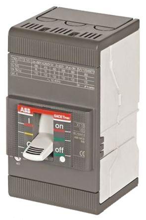 3P 160 A MCCB Molded Case Circuit Breaker, Breaking Capacity 36 kA, DIN Rail Mount Protecta XT1D