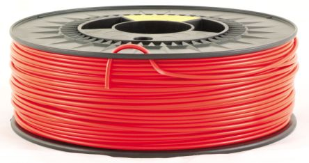 RS Pro 2.85mm Red PLA 3D Printer Filament, 1kg