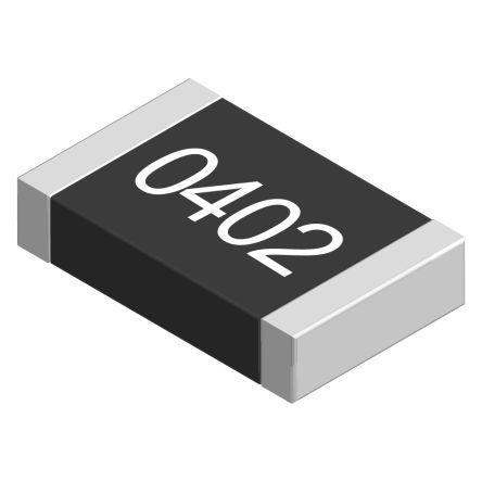Vishay CRCW Series Thick Film Fixed Resistor 0402 Case 412kΩ ±1% 0.063W ±100ppm/K