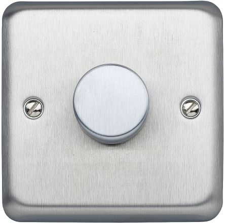 2Way 1G 250W Dimmer BS Brushed Stainless