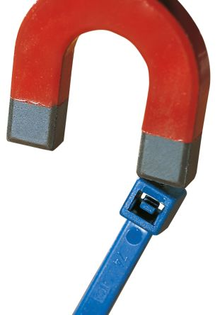 HellermannTyton Blue Nylon Cable Tie, 153mm x 3.5 mm, MCTS150 Series