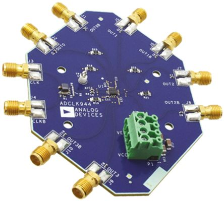 Analog Devices ADCLK944/PCBZ, Clock Fanout Buffer Evaluation Board for ADCLK944