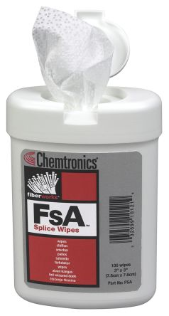Chemtronics Fibre Optic Cleaning Wipe x 75 pcs for Splices