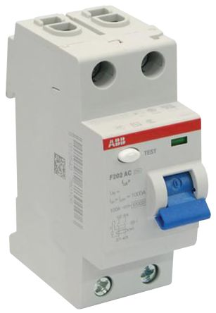 2P 80 A, RCD Switch, Trip Sensitivity 30mA, DIN Rail Mount F200