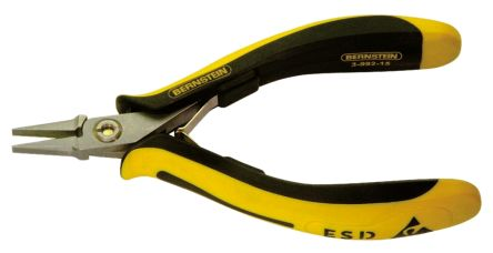 Tools for electronics ESD 130 mm Chrome Vanadium Steel Flat Nose Pliers product photo