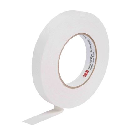 3M White Electrical Tape, 12mm x 20m