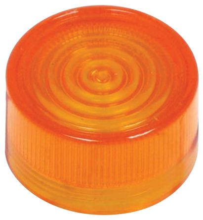 Indicator Lens Round Flat Style, Amber, 24mm diameter , 4 mm Long product photo